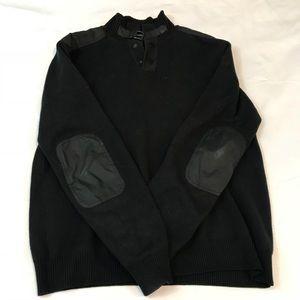 KENNETH COLE BLACK PULLOVER SWEATER SZ MEDIUM